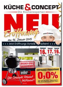 Küche&Concept Prospekt zur Neueröffnung 01/2015
